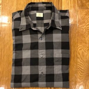 J. Crew Black and Gray Button Down